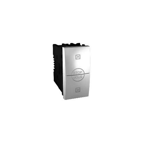 Schneider Electric MGU3.108T.30 Interruptor de Persianas 10A, Aluminio