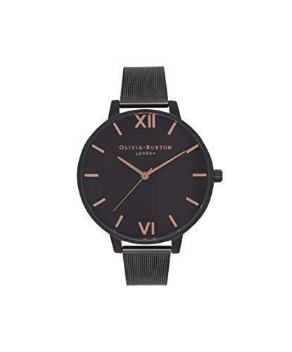 Olivia Burton Damen Analog Quarz Uhr mit Edelstahl Armband OB15BD83