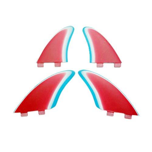 Wavestorm Quilla De Aleta Quad Tabla De Surf Aletas 4pcs Fijada For El Tamaño De La Caja XL + XS Multicolor De Fibra De Vidrio De Tamaño De Las Aletas L + M Fin De Surf Aletas de tabla de surf