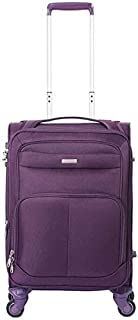 Flower Pot Rack Trolley Suitcase Five Round Business Elite Explosion-Proof Zipper TSA Customs Lock Travel Trolley Case Trunk (Color : Purple, Size : 20 inches),Size:20 inches,Colour:Red