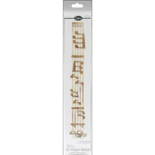 Sizzix 657343 Sizzlits Decorative Strip Die, Sheet Music by Rachael Bright, Gold