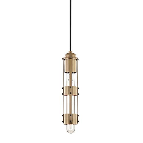 Mitzi H272701-AGB Violet 11.5 Inch 1-Light Pendant, Aged Brass