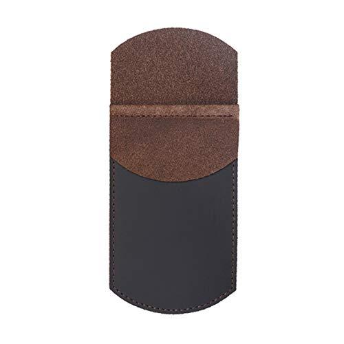 Bolsa de pluma de gran capacidad Funda de lápiz de lápiz de cuero de la funda de lápiz de la funda de la pluma del bolsillo Protector de bolsillo Securamente suministros de oficina Organizador de escr