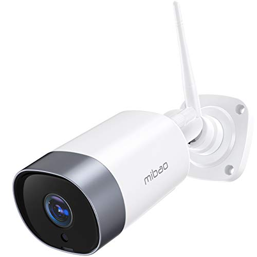 Security Camera Outdoor, Mibao 1080P WiFi Camera, IP66 Waterproof, with Two-Way Audio, Night Vision,...