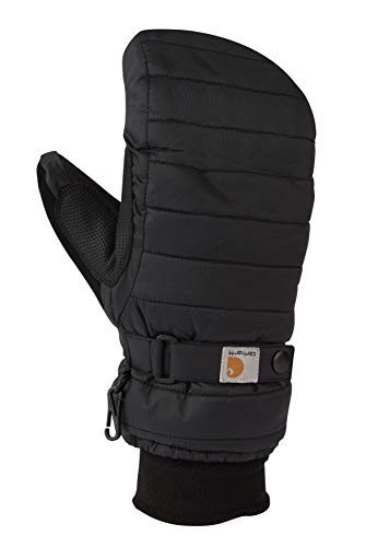 Carhartt Women's Quilts Insulated Breathable Mitt with Waterproof Wicking Insert, Black, Large