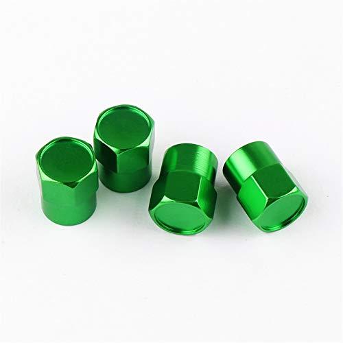 N\A Pegatinas de Coche, Styling DE Coche 4 UNIDS Válvula de neumáticos de la Rueda Tapa de Las Tapas para RS Car Accessories Kit de Envoltura de automóviles (Color Name : Green, Style : For Mercedes)
