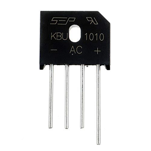 BOJACK KBU1010 Chip raddrizzatore a ponte a diodi a fase singola 10A 1000V (confezione da 10 pezzi)
