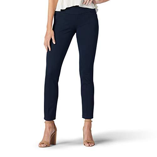 Lee Women's Sculpting Slim FIt Slim Leg Pull-On Pant, cosmic, 8 Short