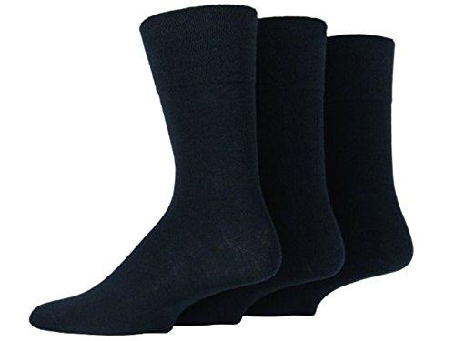 HDUK Mens Socks Herren Socken 39-45 Gr. 39-45, Plain Black