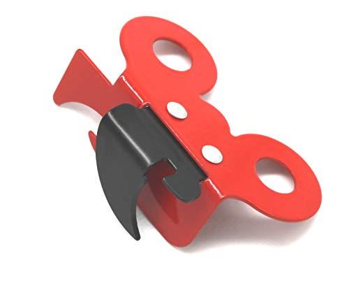 Fackelmann Abrelatas Papillon, Acero, Rojo/Negro, 7.3X5 cm