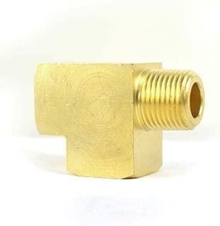 Kobika Sales (5) Brass Pipe Street Tee Fitting 1/8'', NPT Air Water Fuel Thread - FST22RT-5PK A, unused, unopened, Undamaged Item