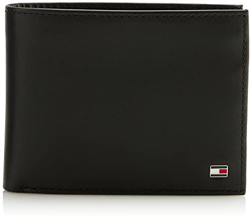 Tommy Hilfiger Eton Cc Flap And Coin Pocket Porta Carte di Credito, 75 cm, Nero