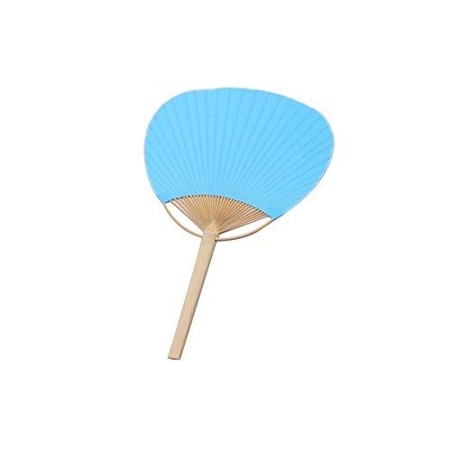 DISOK - PAI PAI Bambú Azul - PAI Pais Baratos Bambú Kraft para Bodas, Ceremonias. Abanicos Parasoles de Madera para Bodas
