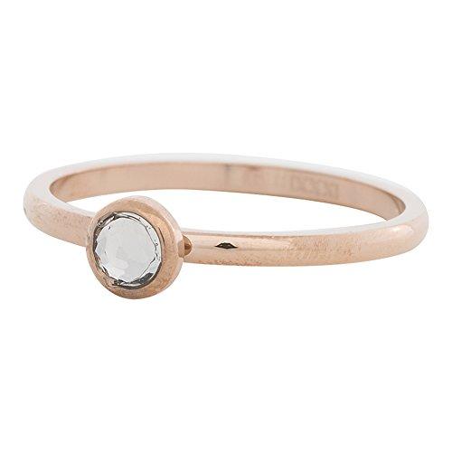 iXXXi Füllring 1 Kristall weiß Ø 6 mm rosé - 2 mm Größe Ringgröße 18