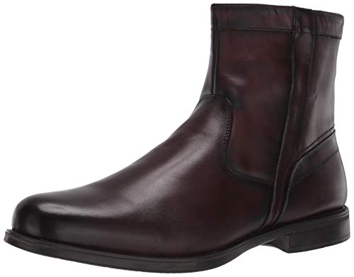 Florsheim Men's Medfield Plain Toe Zip Boot Fashion, Brown, 10 Medium