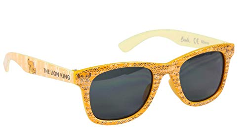 Gafas de sol con funda para niño Simba Le Rey León Disney amarillo, talla única (3 a 8 años)