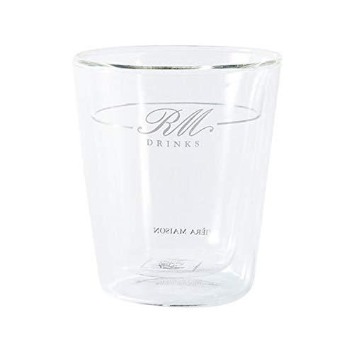 Riviera Maison - doppelwandiges Trinkglas - Drinks Double Wall Glass M - klarglas - Maße (DxH): 8,5 x 9 cm