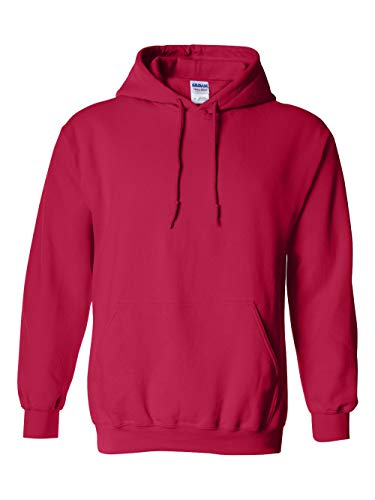 Gildan 18500 - Classic Fit Adult Hooded Sweatshirt Heavy Blend - First Quality - Cherry Red - Large