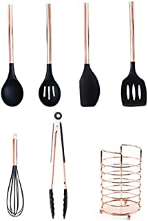 iCactus - Cooking Tool Sets - 6/7 Pcs-Silicone Kitchen Set-Spatula Set,Rose Cooking Utensils Set with Holder Kitchen Tools...