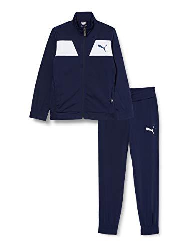PUMA Poly Suit cl B Trainingsanzug, Kinder, Blau, 7-8 Jahre