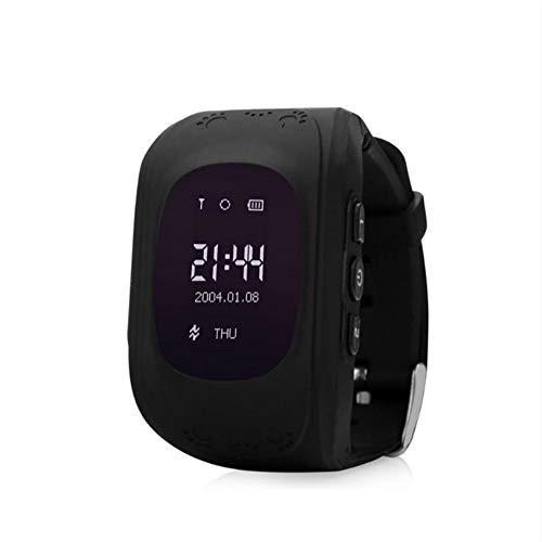 Slimme Horloge voor Kinderen Smartwatch Telefoon met SIM-oproepen Anti-verloren GPS Tracker SOS Voice Chat Gprs Armband Ouder Controle APP, Zwart