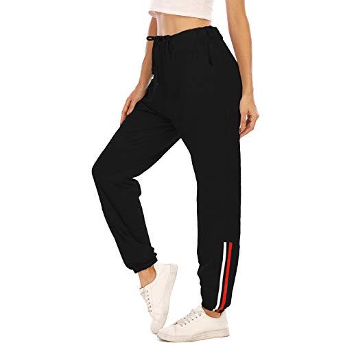 MoneRffi Mujer Pantalones Deportivos Casuales de Cintura elástica Pantalones Largos Pantalón Deportiva Jogger Pants Sweatpants Correr Pantalones de Entrenamiento