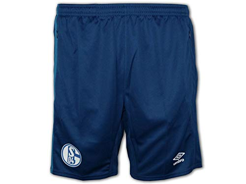 UMBRO Schalke 04 Training Short blau S04 Sporthose Fußball Freizeit Turnhose, Größe:XL