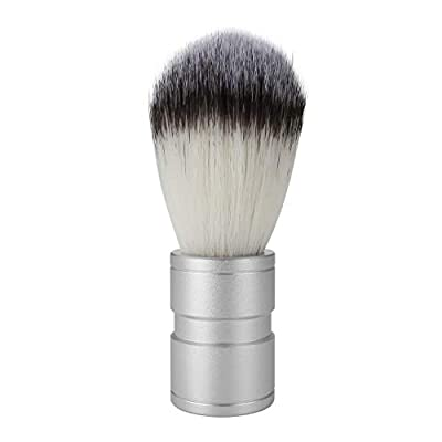 CCbeauty Men's Shaving Brush Barber Cleaning Brush Synthetic Metal Traditional Shave Brush for Wet Shaving Beard, Moustache & Facial Hair Grooming for Male