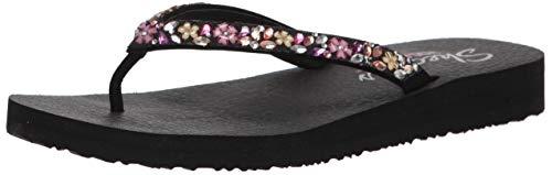 Skechers Womens Meditation Daisy Garden Summer Flip Flops