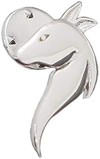 Sterling Silver Tie Tack Frizione Pin Badge Frizione Della Farfalla In Metallo Cavallo Pin Accessori Dei Monili per il Pad...