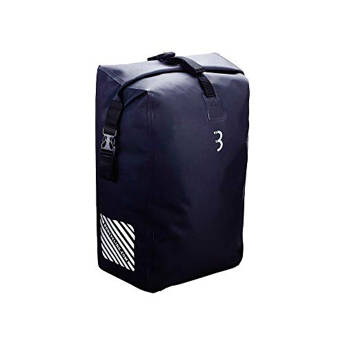 BBB Cycling BSB-132 Fietstas, uniseks, waterdichte tas met inklapbaar bovendeel, bagagetas voor fietsen, regendicht, volume 30 l, zwart, 13800 cm3