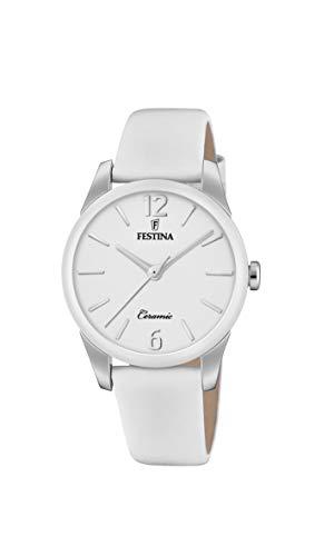 Festina Damen Analog Quarz Uhr mit Leder Armband F20473/4