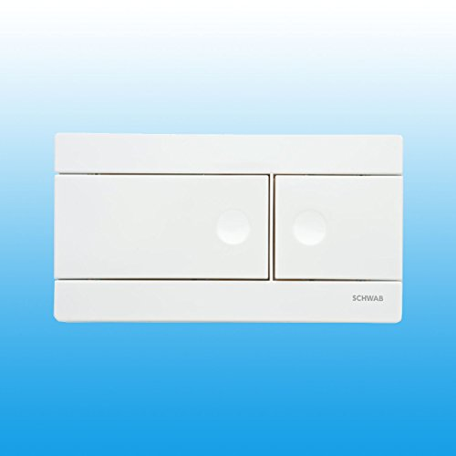 SCHWAB Betätigungsplatte LINE 2-Mengen-Spülung weiß 360160 585-0042