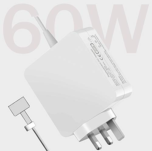 60W Mac Book Pro AC Connector Charger, 60W Mac Book T-tip Power Adapter Replacement Charger Compatible with Mac Book Pro 11 and 13 inch(After Late 2012), 60W Mac Book Air Charger