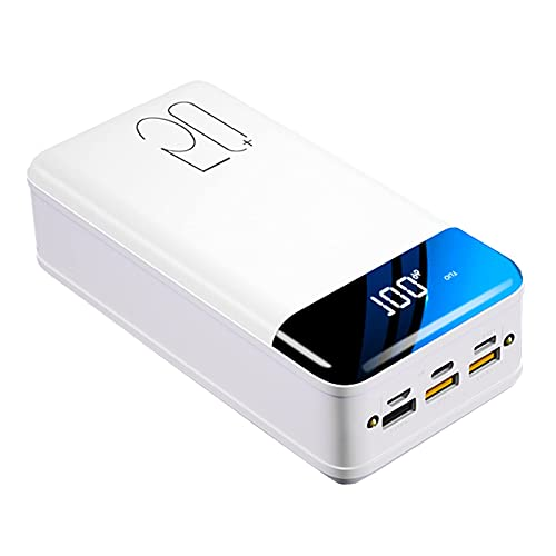 Wdszb 50000mAh Power Bank Quick Charger 3.0, Cargador portátil 18W PD Cargador de batería USB C con 4 Salidas 3 entradas Paquete de batería Externo Cargador de teléfono Celular Compatible con iPho