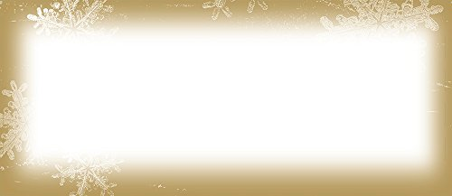Great Papers! 9.5' x 4.125' Imprintable Stationery, Frosted Holiday Wishes (2011608)