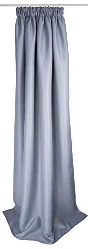 TOM TAILOR T de Classic Darken–Cortina con Banda, Textil, Gris, 140x 245cm