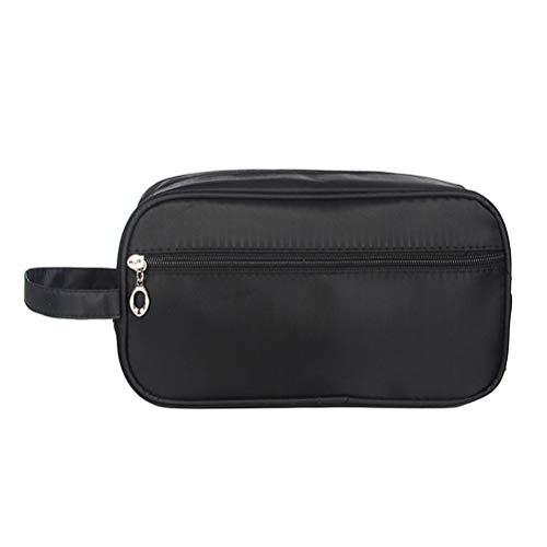 DOITOOL- Borsa sportiva impermeabile portatile grande capacità borsa cosmetica borsa a tracolla (nero)
