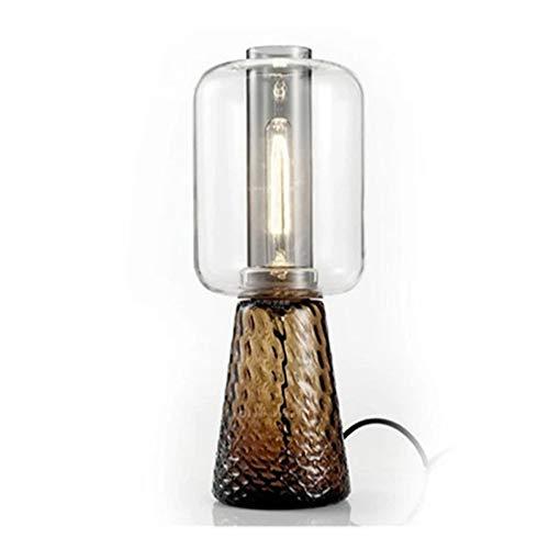 SXNYLY Vidrio lámpara de Mesa lámpara de cabecera Dormitorio Simple Post-Moderna nórdica Retro Lámpara Sofá Cama Lado A Pocos Lámparas for el Dormitorio, Tocador, Estudio de iluminación LED
