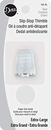 Dritz 162-XL Slip Stop Thimble, Size Extra Large , Silver