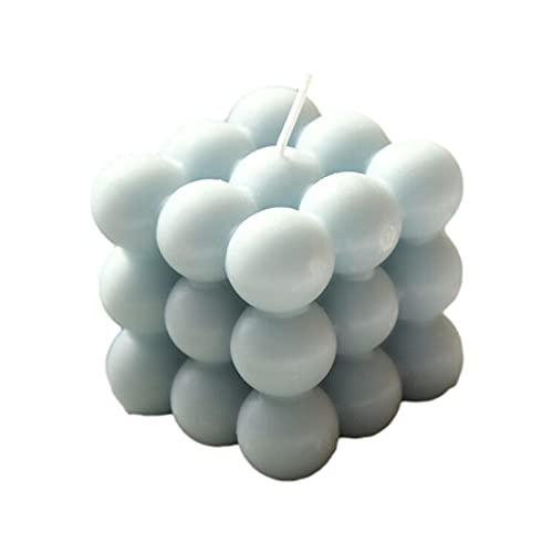 mooderf Vela perfumada con forma de cubo de burbujas, vela de cera de soja es más de 12 horas, velas de aromaterapia, 100 ingredientes de plantas puras, florero, donut jarrón Boho decoración del hogar