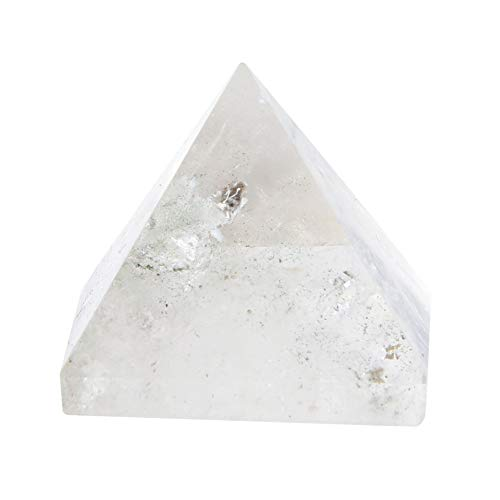 TOPINCN - Pirámide de Cuarzo con Cristal Blanco Natural para Curación de Energía de Chakras Equilibrio de Fengshui Decoración del Hogar Regalo de Colección