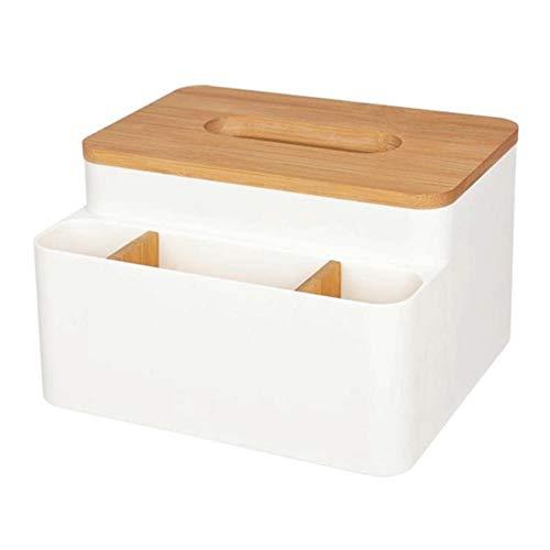 KDEKIFN Caja de pañuelos de Madera contenedor de Toalla Caja de servilletas Soporte de pañuelos Organizador de Escritorio Caja de Papel higiénico decoración del hogar de Oficina