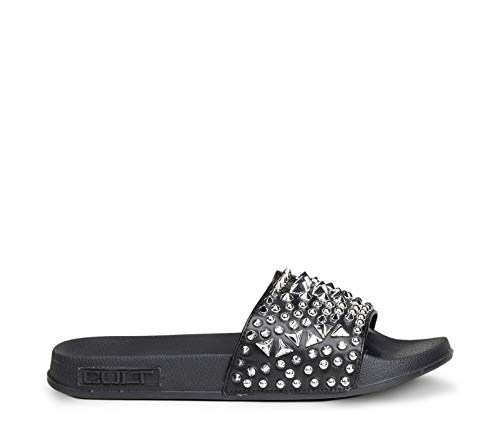 Cult - Killers 3166 Slipper w Leat #black/silver CLE104413 38