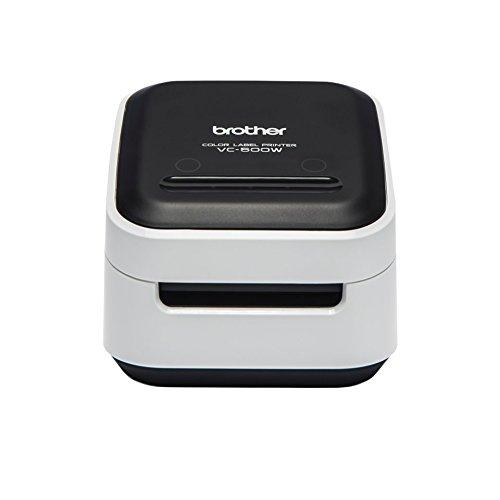 Brother VC-500W Label Maker, Impresora fotográfica de etiquetadora a Todo Color, inalámbrica, Escritorio, tecnología de impresión Zink (Tinta Cero)