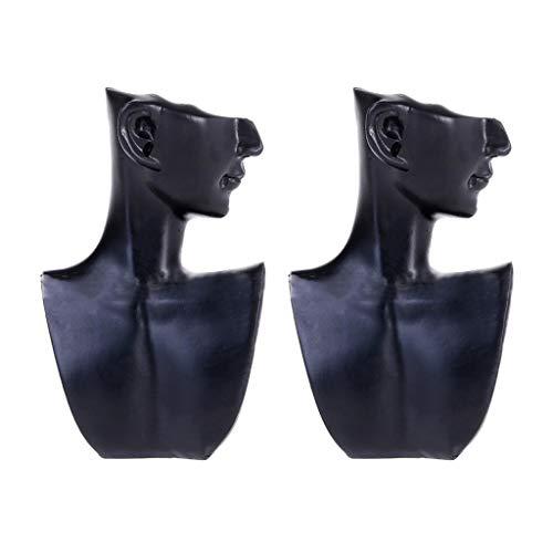 kowaku 2 Piezas de Moda Femenina Collar Colgante Mostrar Joyería Maniquí Busto Exhibición