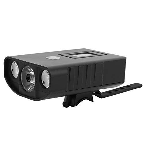 Luz de bicicleta, falta Plástico USB Batería recargable de gran capacidad Chip emisor de luz LED Linterna de deslumbramiento frontal de bicicleta Faros delanteros LED Accesorios para montar en bicicle
