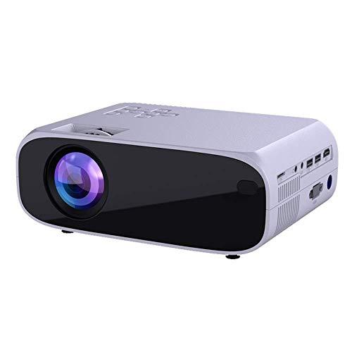 Mini proyector mini proyector 1080P HD Ultra calidad de imagen multifunción portátil proyector de pantalla inteligente WiFi HD 4K Pequeño 3D de cine en casa es compatible con dispositivos de almacenam
