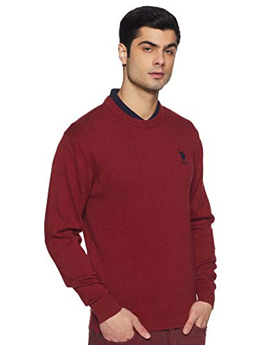 US Polo Association Men's Blouson Cotton Sweater