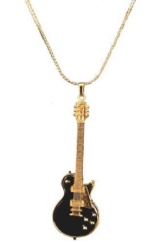 『ギブソン レスポール ギター ビンテージ 1959 黒 ネックレス NECKLACE LES PAUL VINTAGE 1959 BLACK WITH GOLD PICKGUARD 608』の1枚目の画像